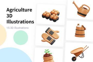 Agriculture 3D Illustration Pack