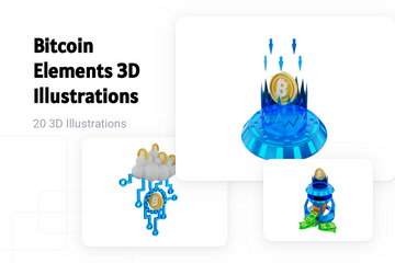 Bitcoin Elements 3D Illustration Pack
