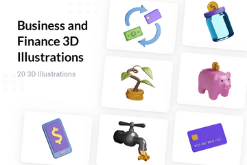 Business And Finance 3D Illustration Pack
