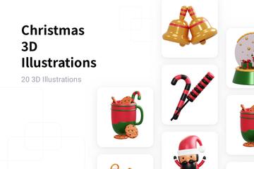 Christmas 3D Illustration Pack
