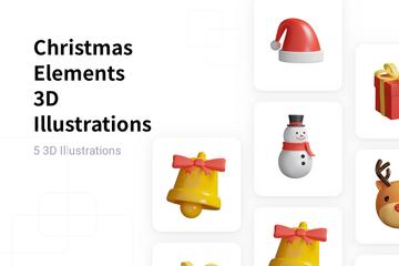 Christmas Elements 3D Illustration Pack