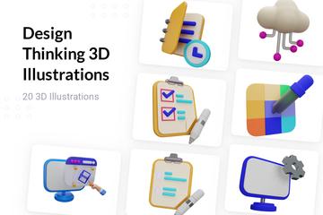 Design Thinking 3D Illustration Pack