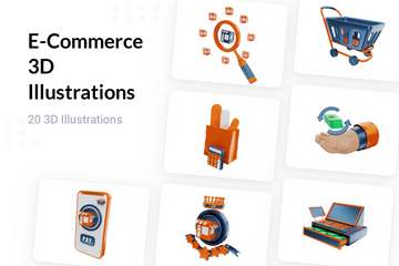 E-Commerce 3D Illustration Pack