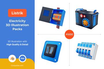 Electricity 3D Illustration Pack