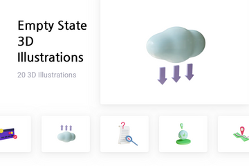 Empty State 3D Illustration Pack
