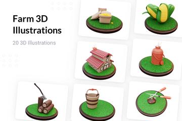 Farm 3D Illustration Pack