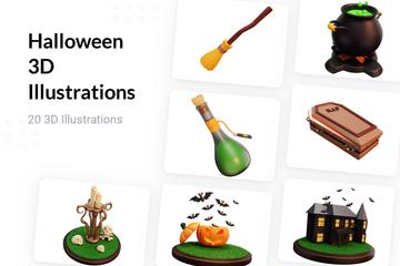 Halloween 3D Illustration Pack