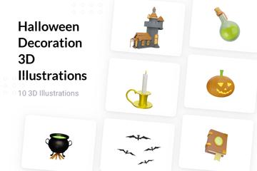 Halloween Decoration 3D Illustration Pack