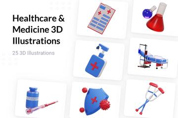 Healthcare & Medicine 3D Illustration Pack
