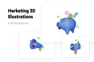 Marketing 3D Illustration Pack
