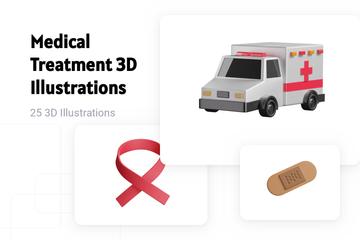 Medical Treatment 3D Illustration Pack