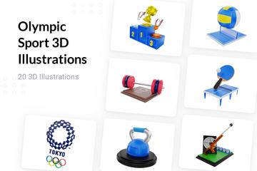 Olympic Sport 3D Illustration Pack