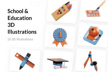 School & Education 3D Illustration Pack