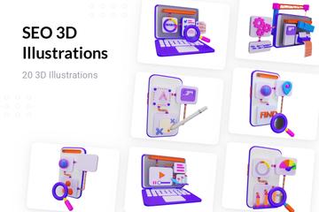 SEO 3D Illustration Pack