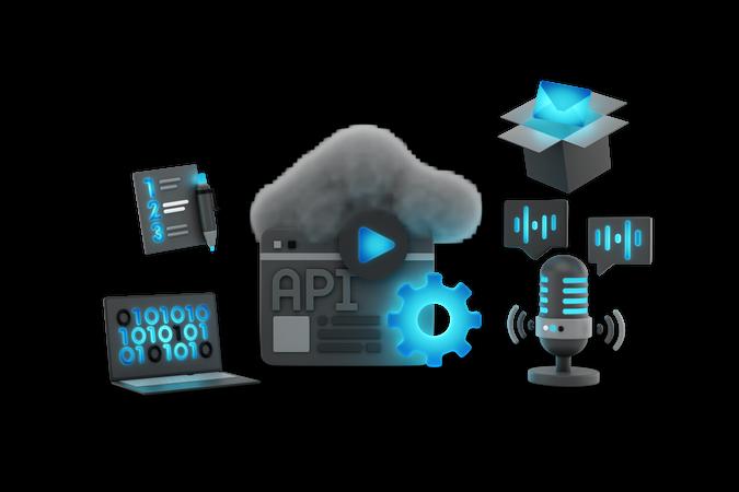 Api Programming 3D Illustration