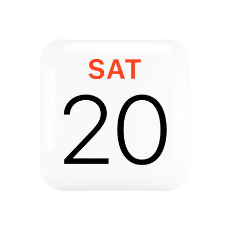 Apple Calendar 3D Illustration