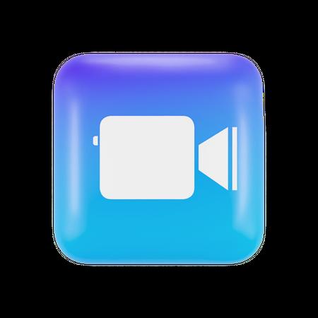 Apple Clip Application 3D Illustration