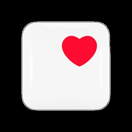 Apple Health Application Logo 3D Illustration