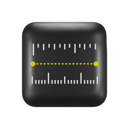 Apple Measure 3D Illustration