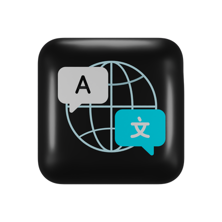 Apple Translate Application 3D Illustration