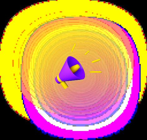 Bullhorn 3D Illustration