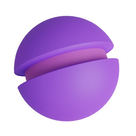 Burger Shape 3D Illustration