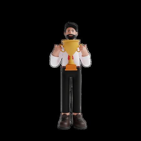 Business achievement 3D Illustration