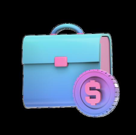 Business Case 3D Illustration