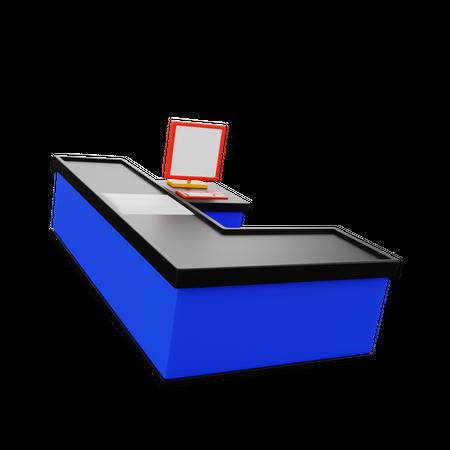 Cash Counter 3D Illustration