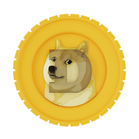 Dogecoin 3D Illustration