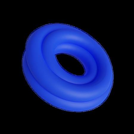 Double circle 3D Illustration