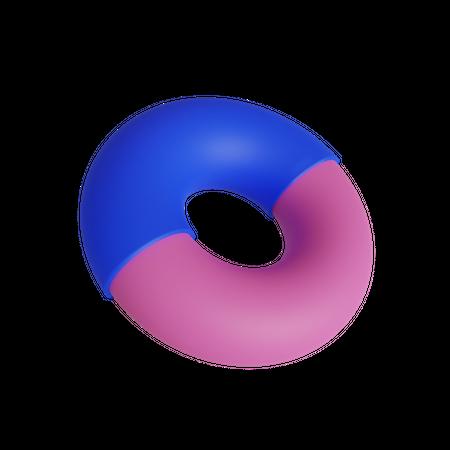 Double Donut 3D Illustration