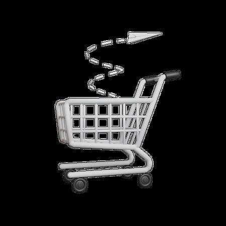 Empty Cart 3D Illustration