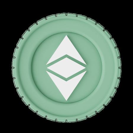 Ethereum Classic 3D Illustration