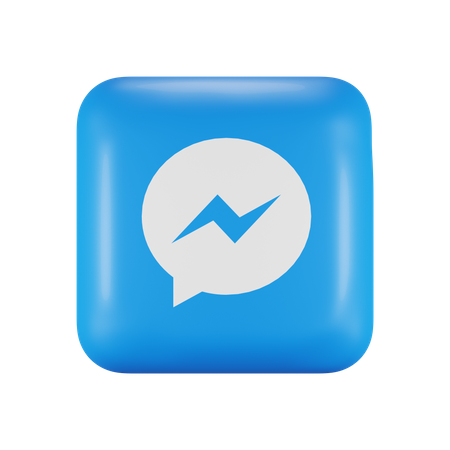 Facebook Messenger 3D Illustration