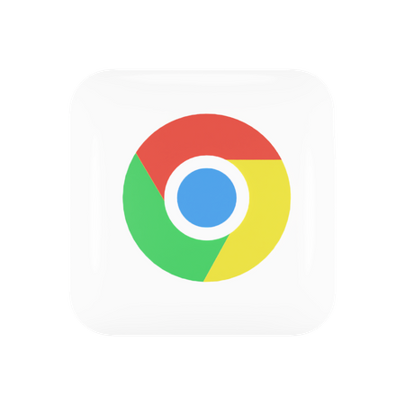 Google Chrome 3D Illustration