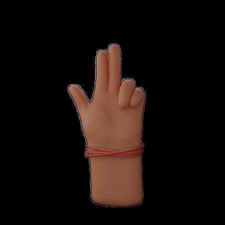 Hand showing gun sign with finger 3D Illustration