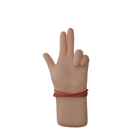 Hand showing gun sign with fingers 3D Illustration