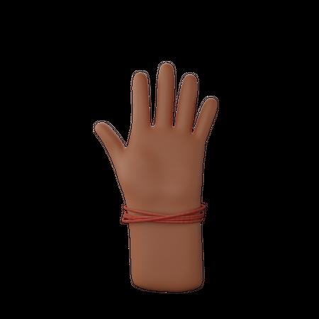 Hand showing stop sign 3D Illustration