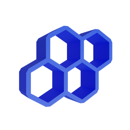 Hexagonal Beehive 3D Illustration
