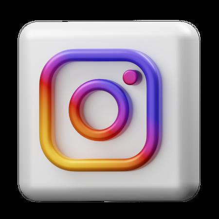 Instagram 3D Illustration