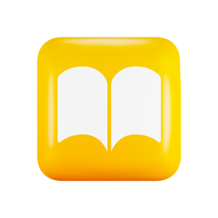 Ios Books application 3D Illustration