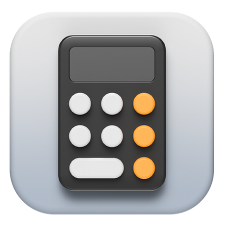 IOS calculator 3D Illustration