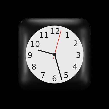 Ios Clock Application Logo 3D Illustration
