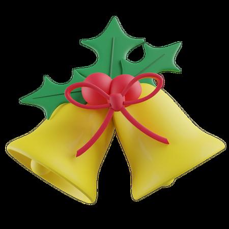 Jingle bells 3D Illustration