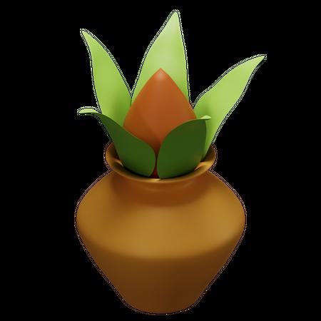 Kalash 3D Illustration