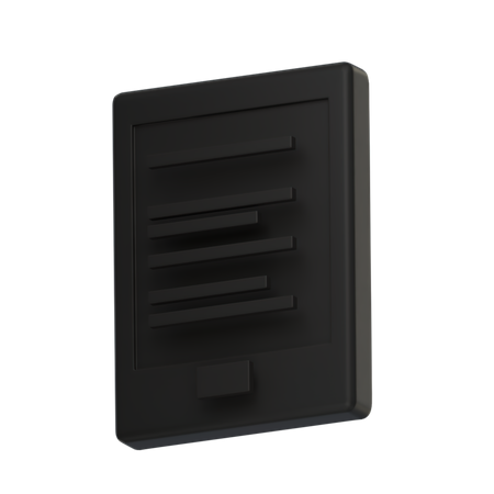 Kindle 3D Illustration