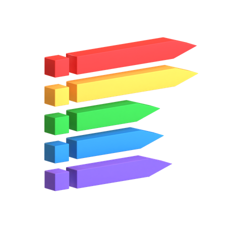 Label Chart 3D Illustration