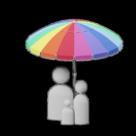 Life Insurance 3D Illustration