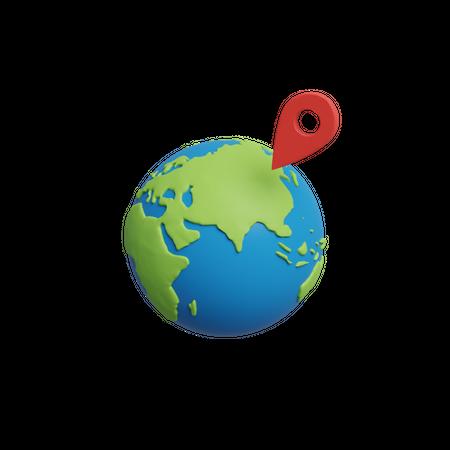 Location 3D Illustration